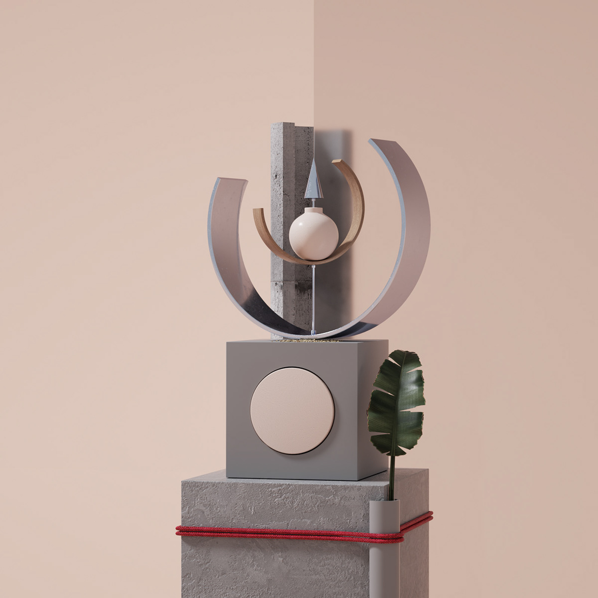 ILLUSTRATION  design graphic design  art direction  ad 3D style life object Plant