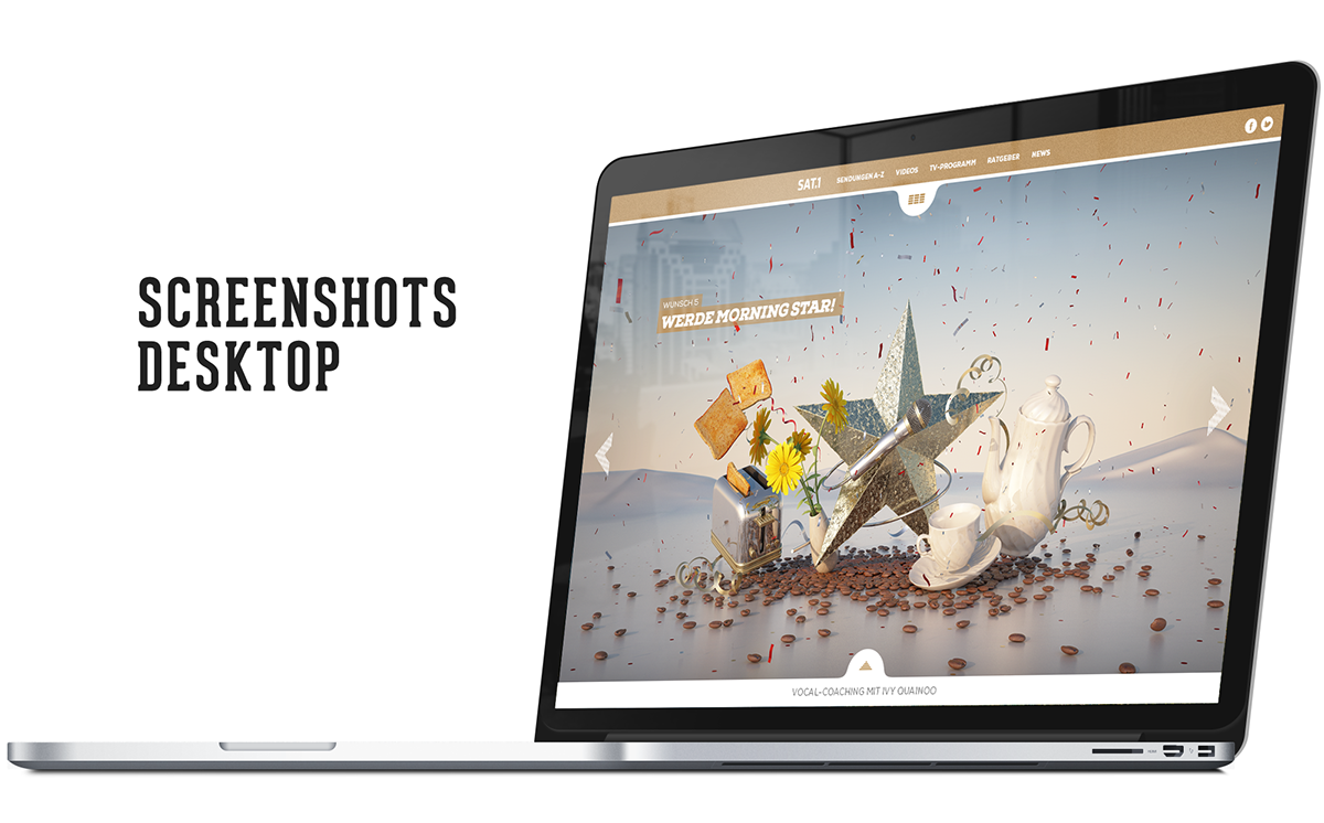 Responsive Webspecial Webdesign Sat1 html5 3D-Animation
