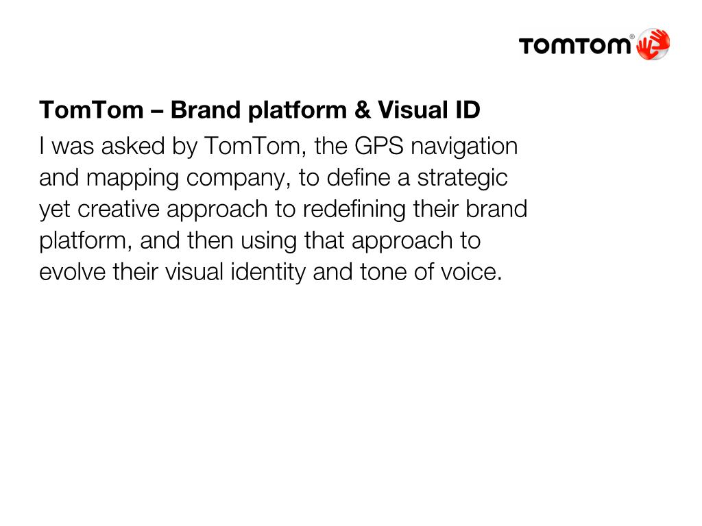 TomTom – Brand Platform & Visual Identity on Behance