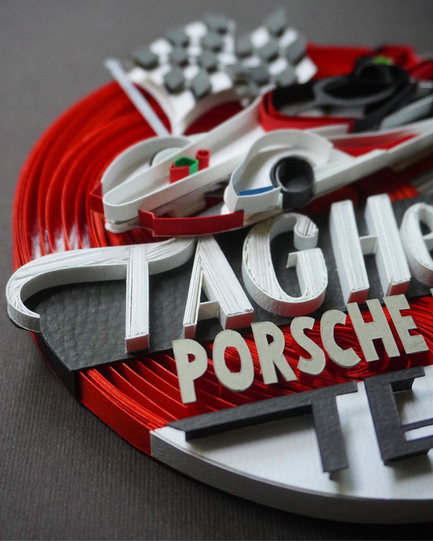 craft handmade paper paperart papercraft papercut Porsche racecar SabeenaKarnik typography