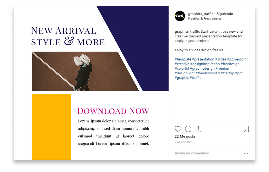 free social media design template photoshop fashion style instagram freebie free download post 2020 trends
