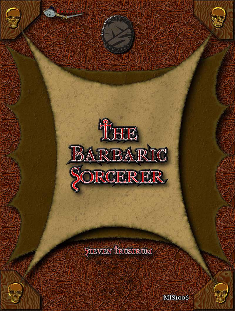 Barbarian book cover graphic design  fantasy conan