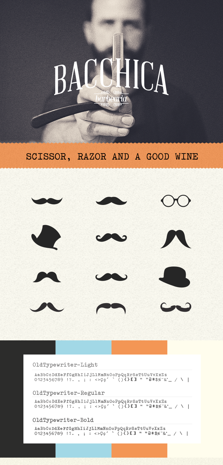 AG21 Bacchica barbershop barber beard vintage Retro