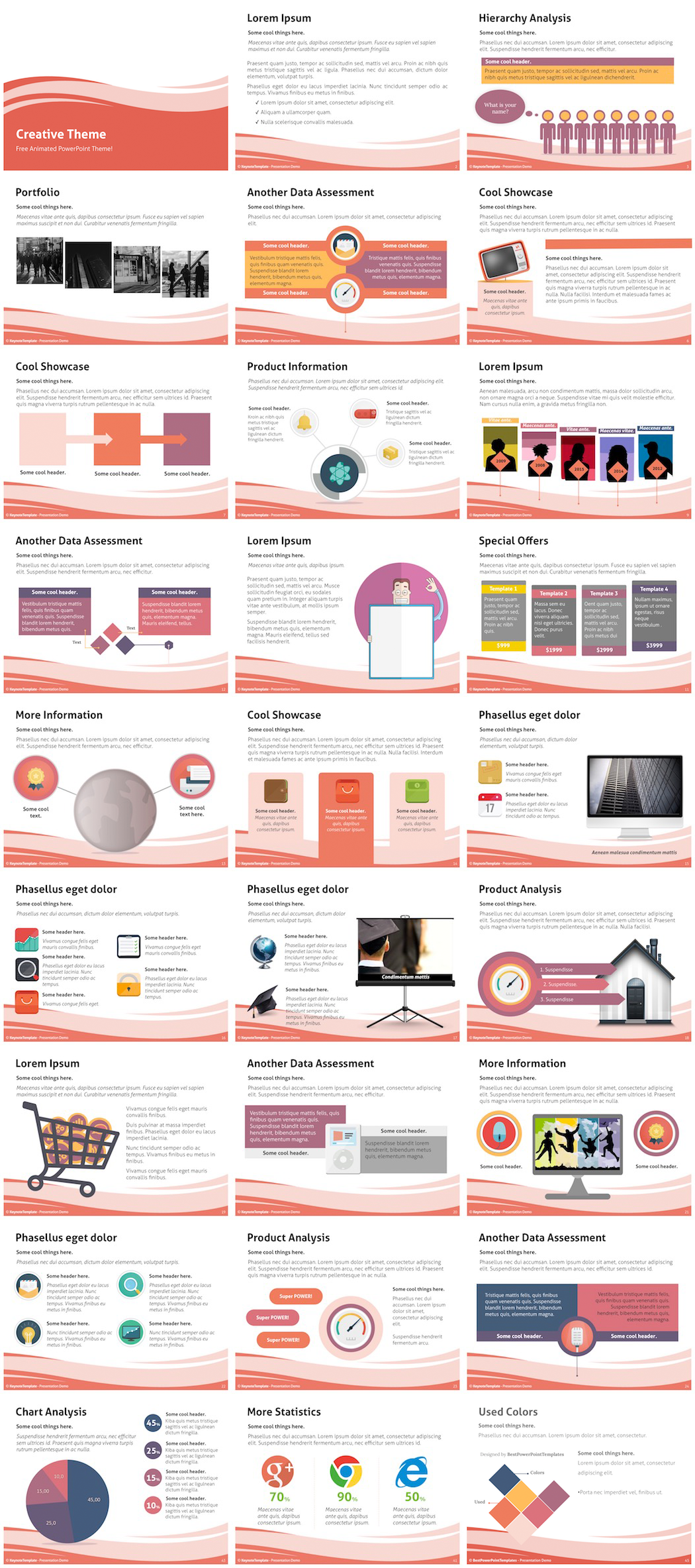 free creative powerpoint template on behance