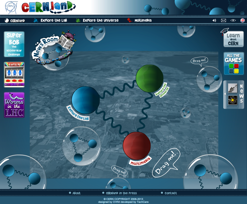kids  CERN   lhc physics  game   flash  interactive  educational scientific characters  cartoon collider  collisions  quark science