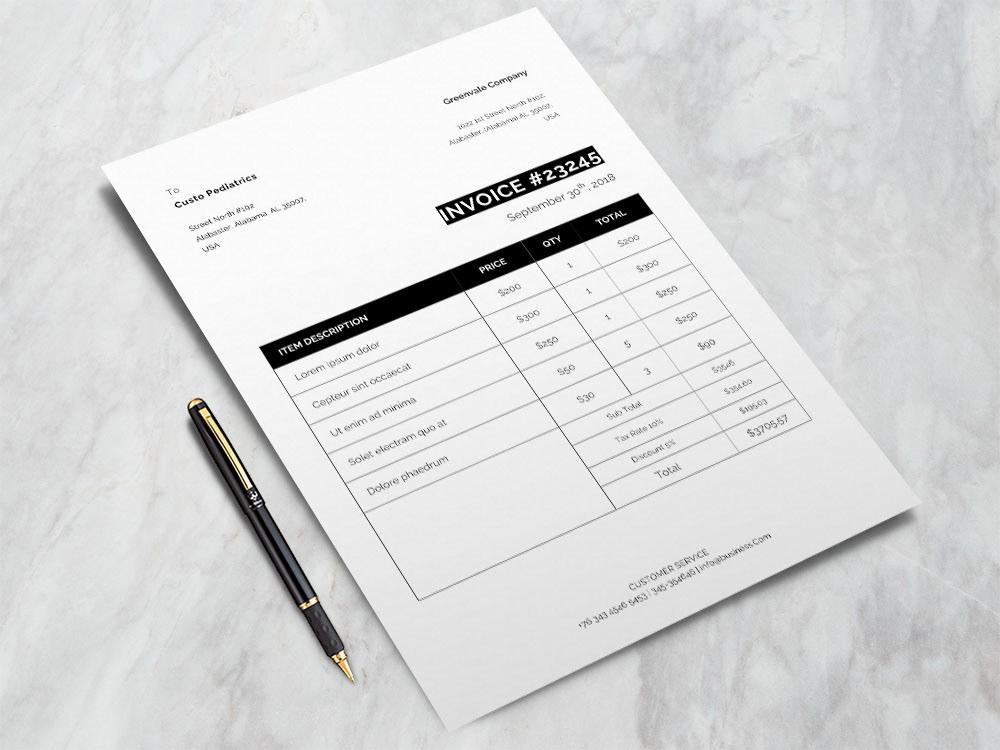 invoice free invoice template free bill template billing freebies freebie
