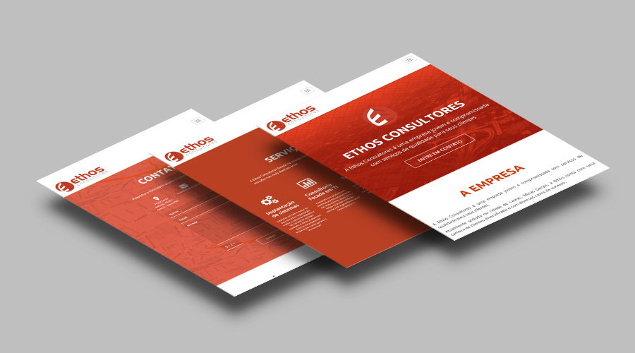 Layout Web card logo Brazil consultores