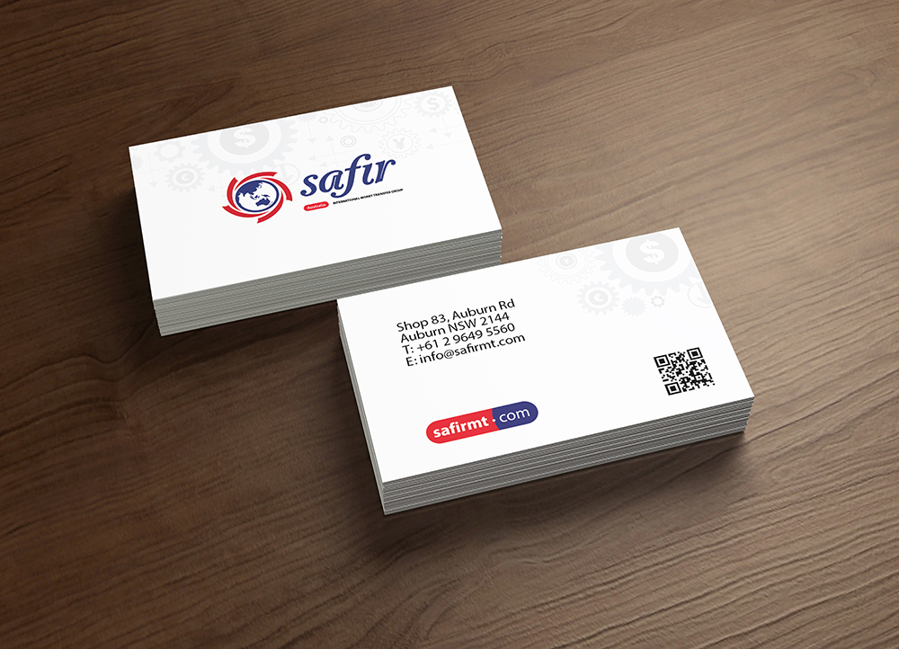 Safir Money Exchange, Business Card on Behance