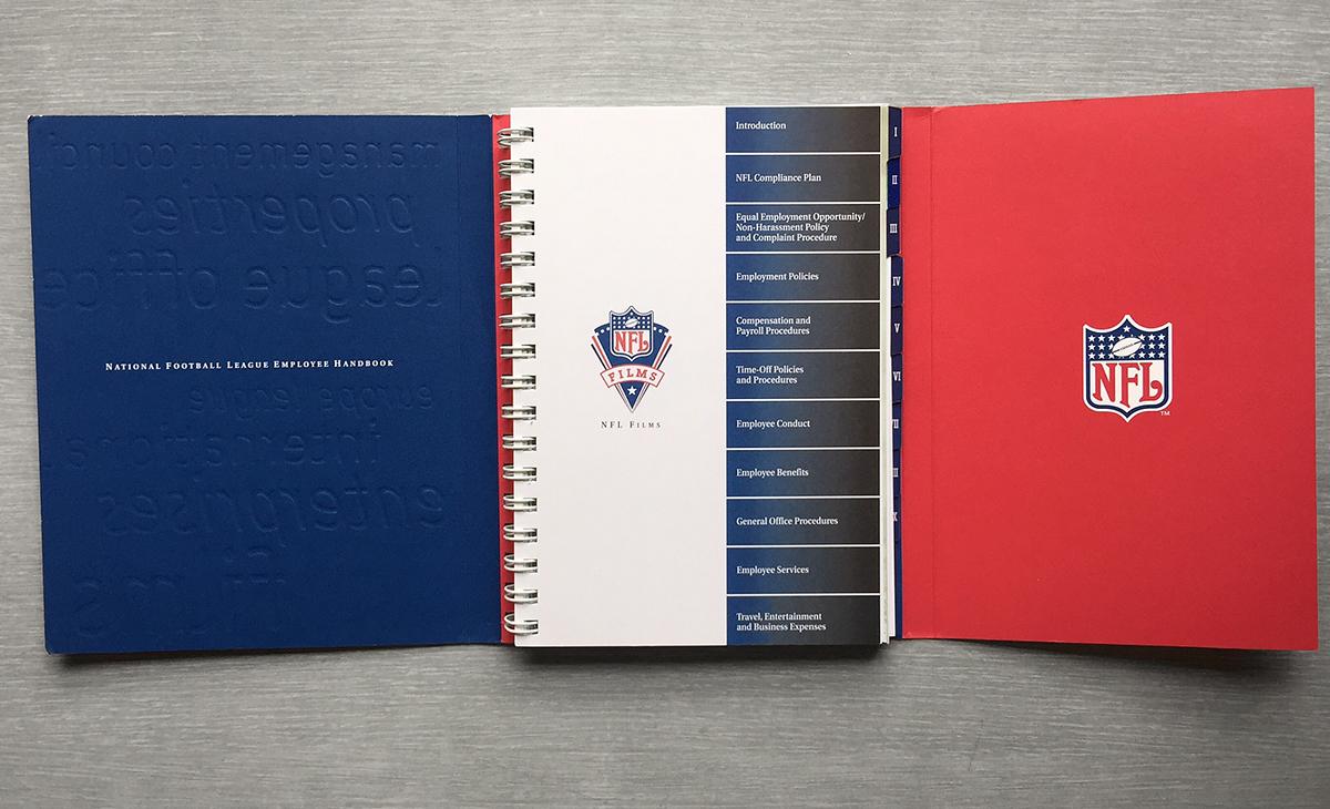 NFL Employee Handbook On Behance - Employee handbook design