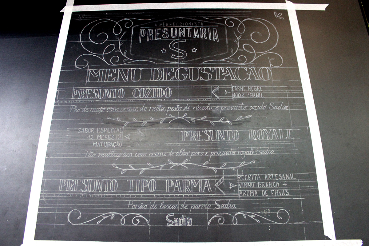 lettering letters Chalkboard tipografia Calligraphy