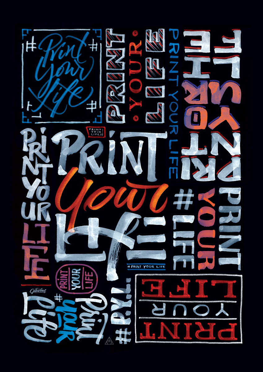 magazine lettering painting