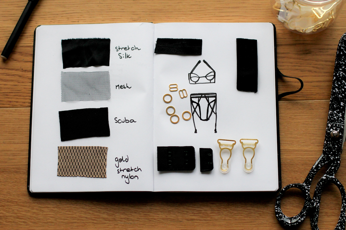 5hourschallenge fashion design lingerie moodboard creative