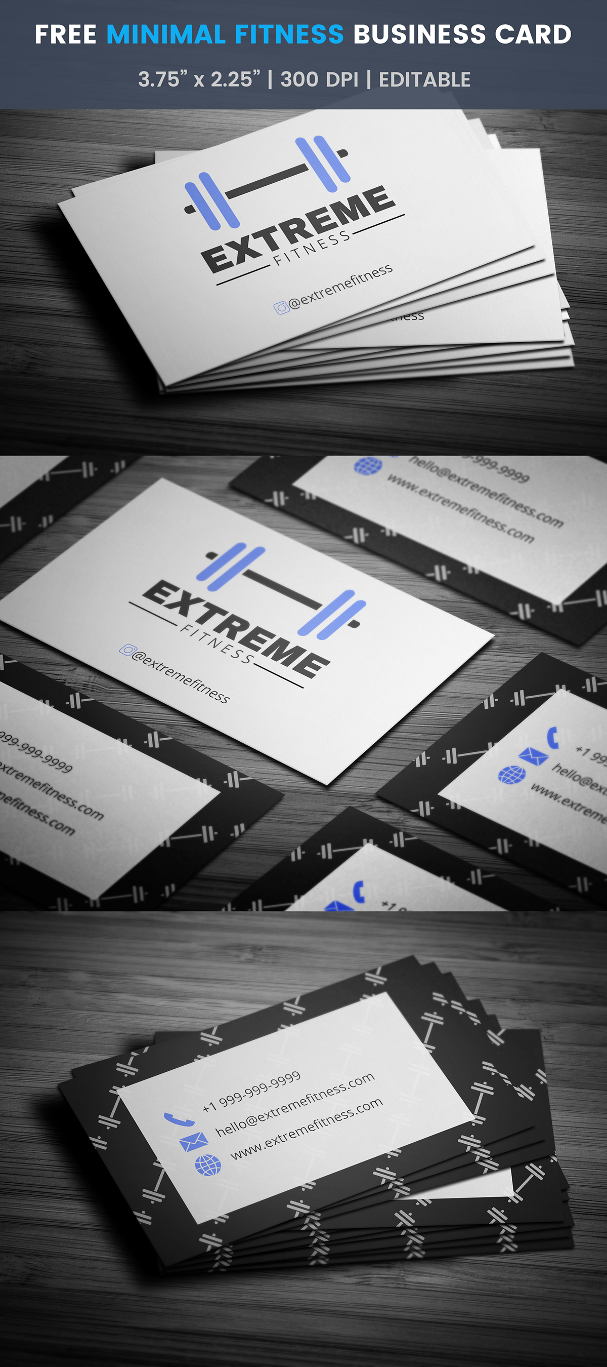 Free fitness business card template on student show free fitness business card template accmission Choice Image