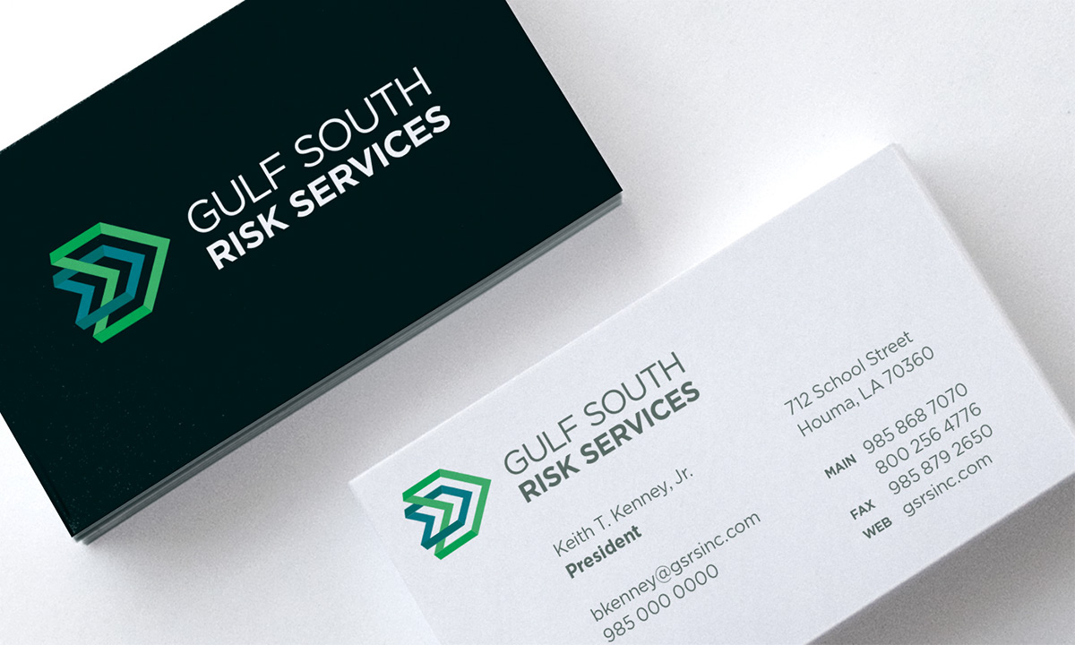 Gulf south risk services identity on aiga member gallery progress and interlock to convey partnership and their personalized approach the deliverables of this project include the logo and business papers reheart Image collections