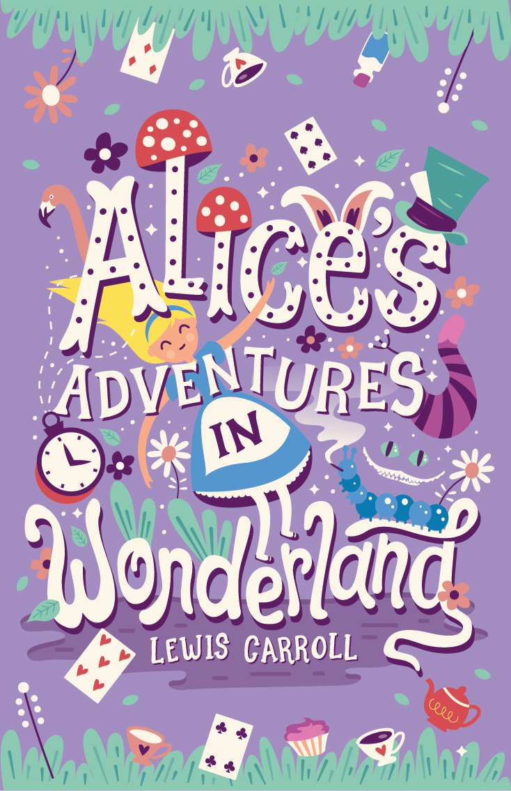 Book Cover Design Quote : Alice s adventures in wonderland book cover on behance