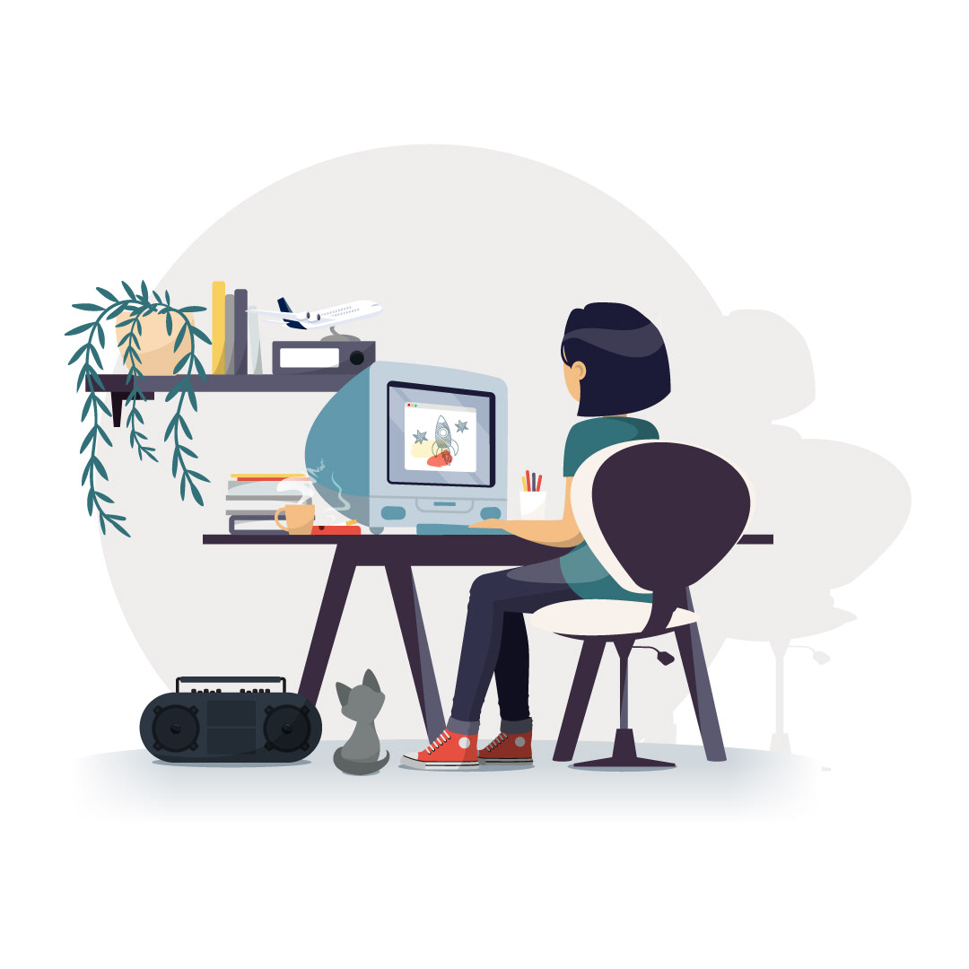 Image may contain: cartoon, computer and illustration