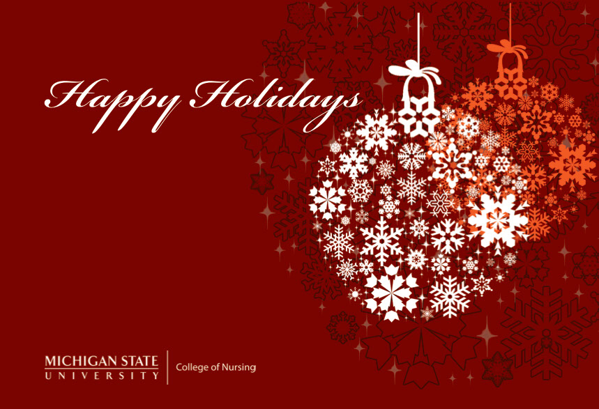 Msu college of nursing holiday greeting cards on behance m4hsunfo