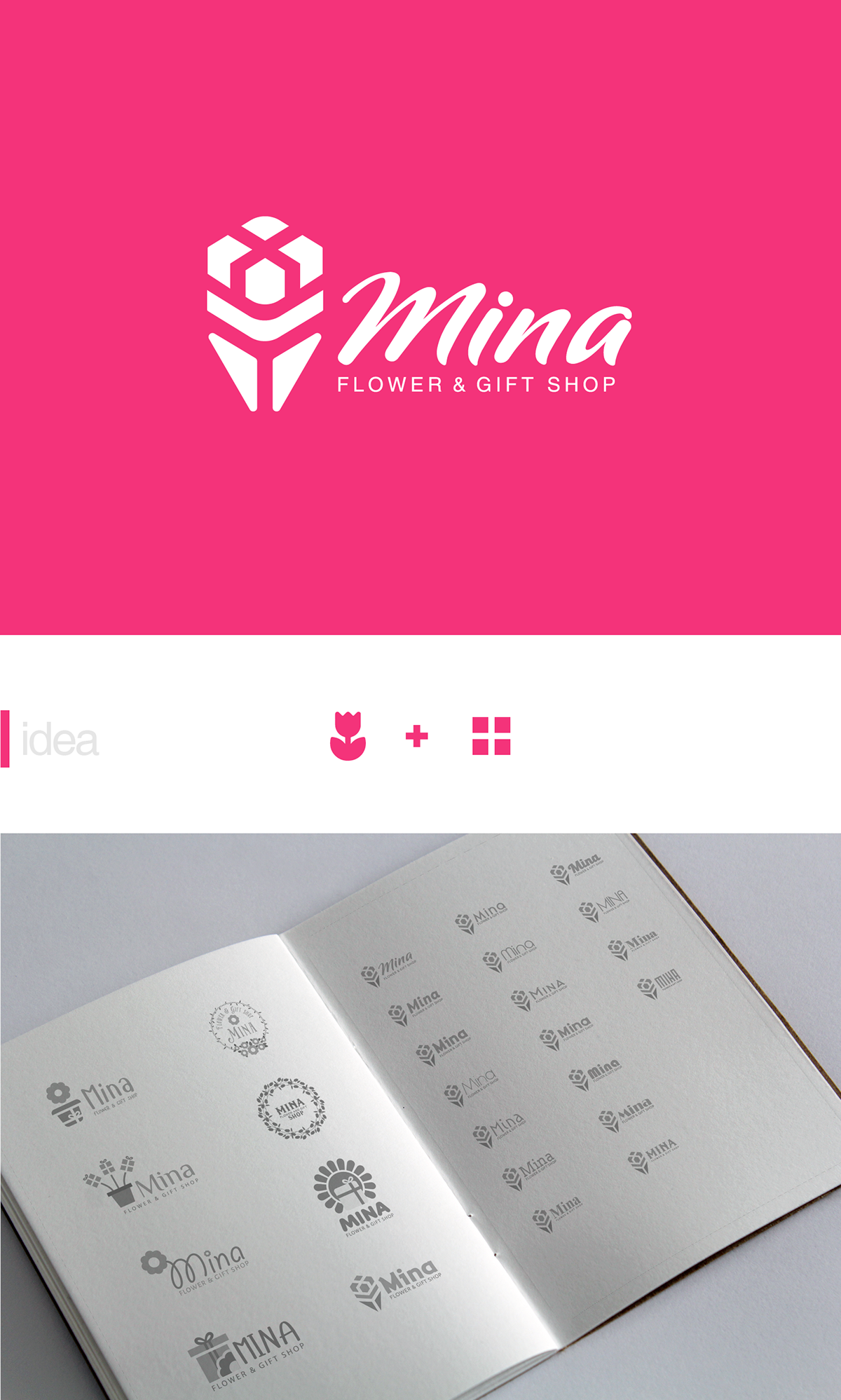 Flower Gift Shop Mina Branding On Student Show