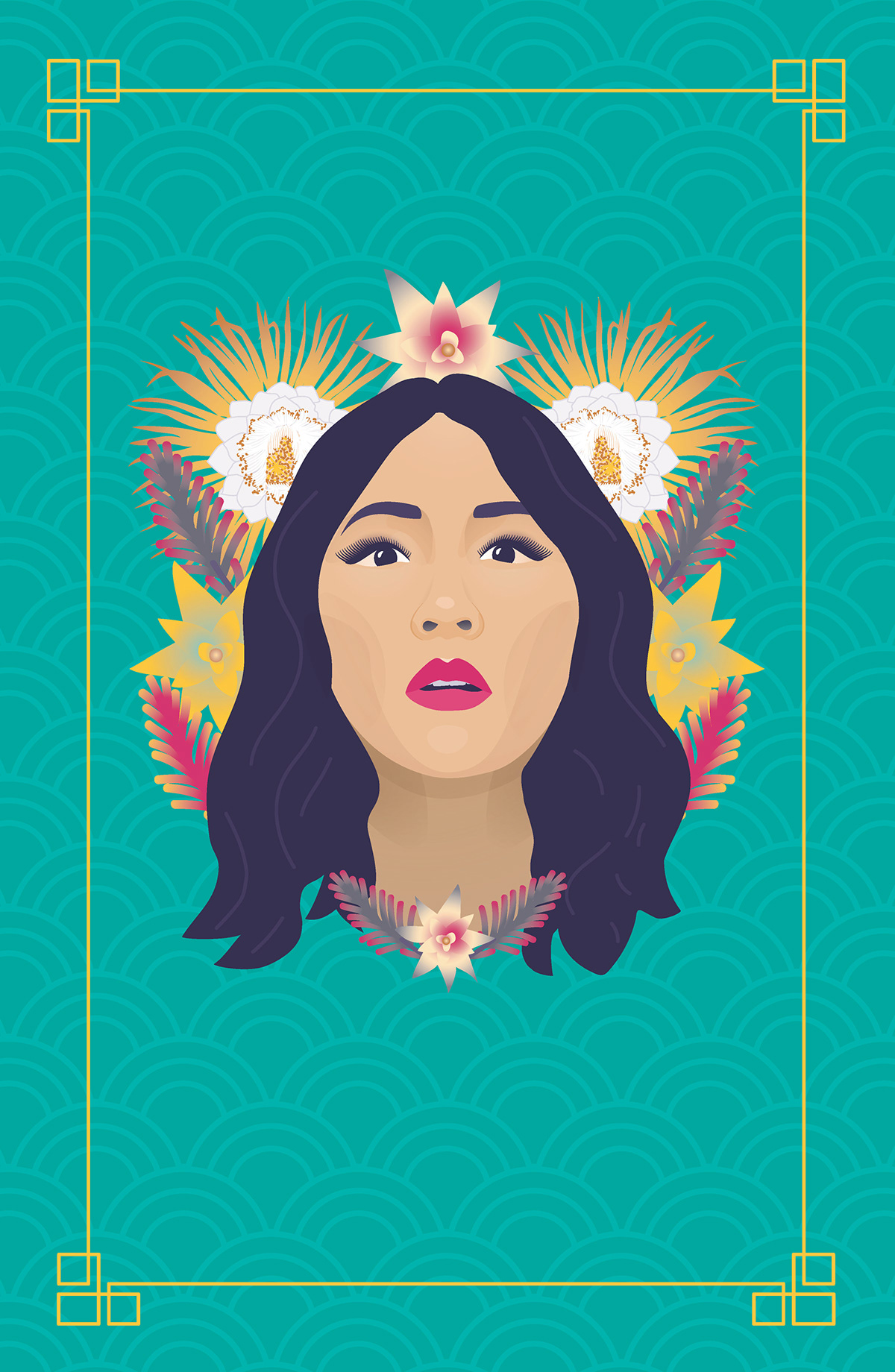 crazy rich asians movie poster ILLUSTRATION  contance wu malaysia Flowers asian
