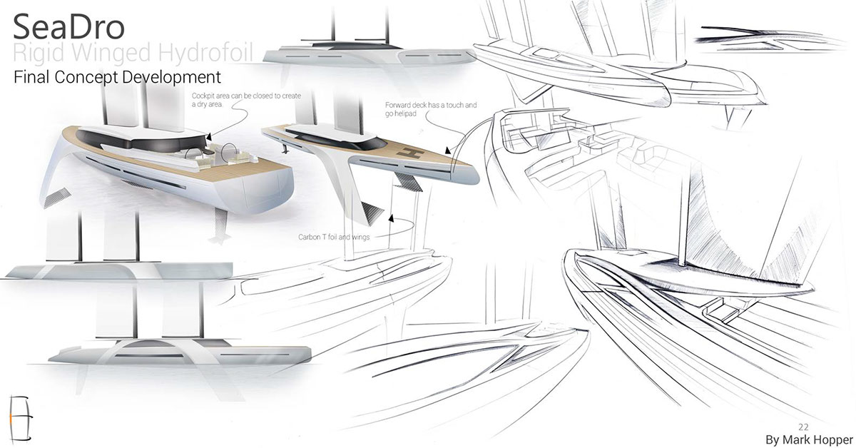 Sailing Superyacht Hydrofoil On Behance