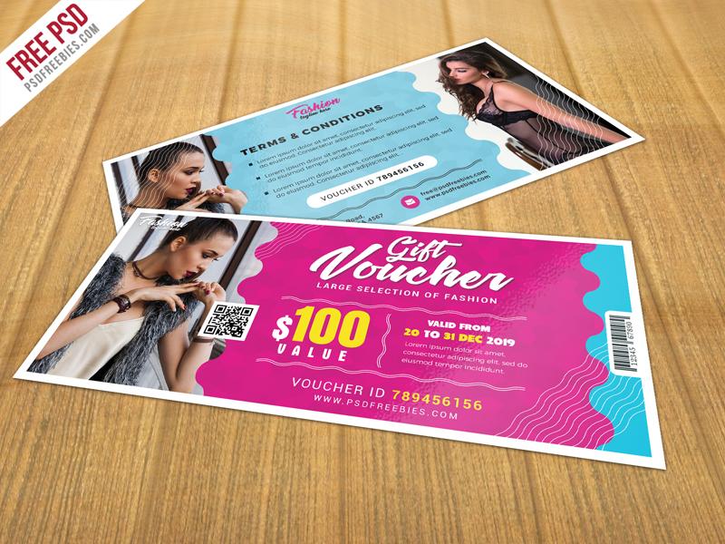 Gift Voucher Template Free Psd On Behance