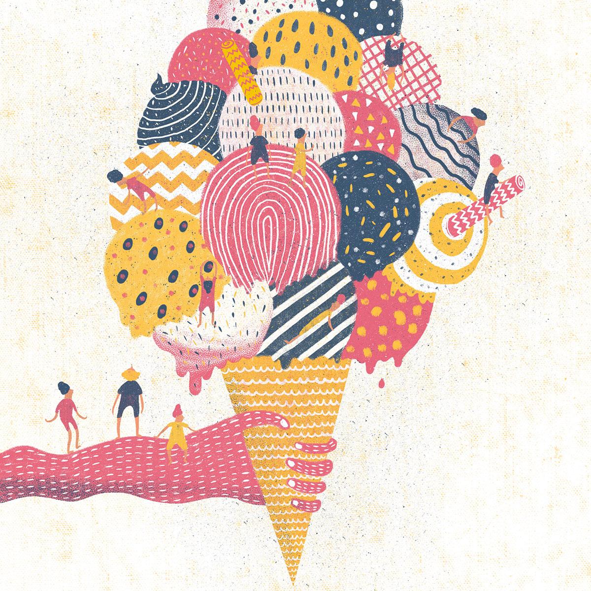 encontro ilustração infinito ice-cream cotton Candy