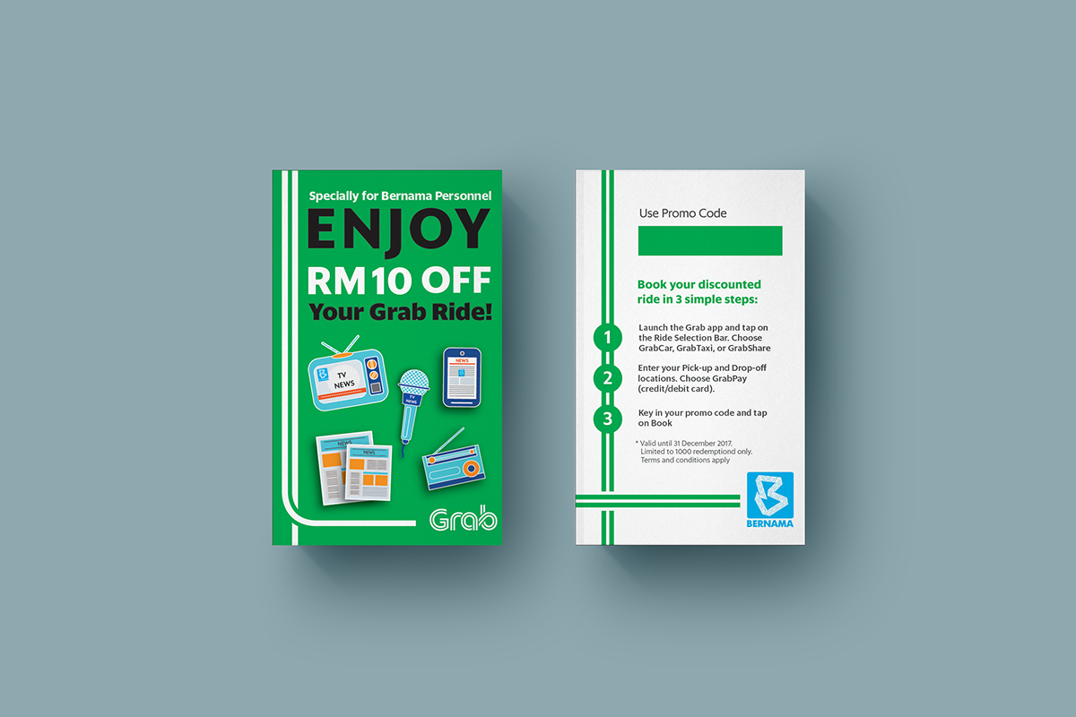 Grab Promo Code Card on Behance