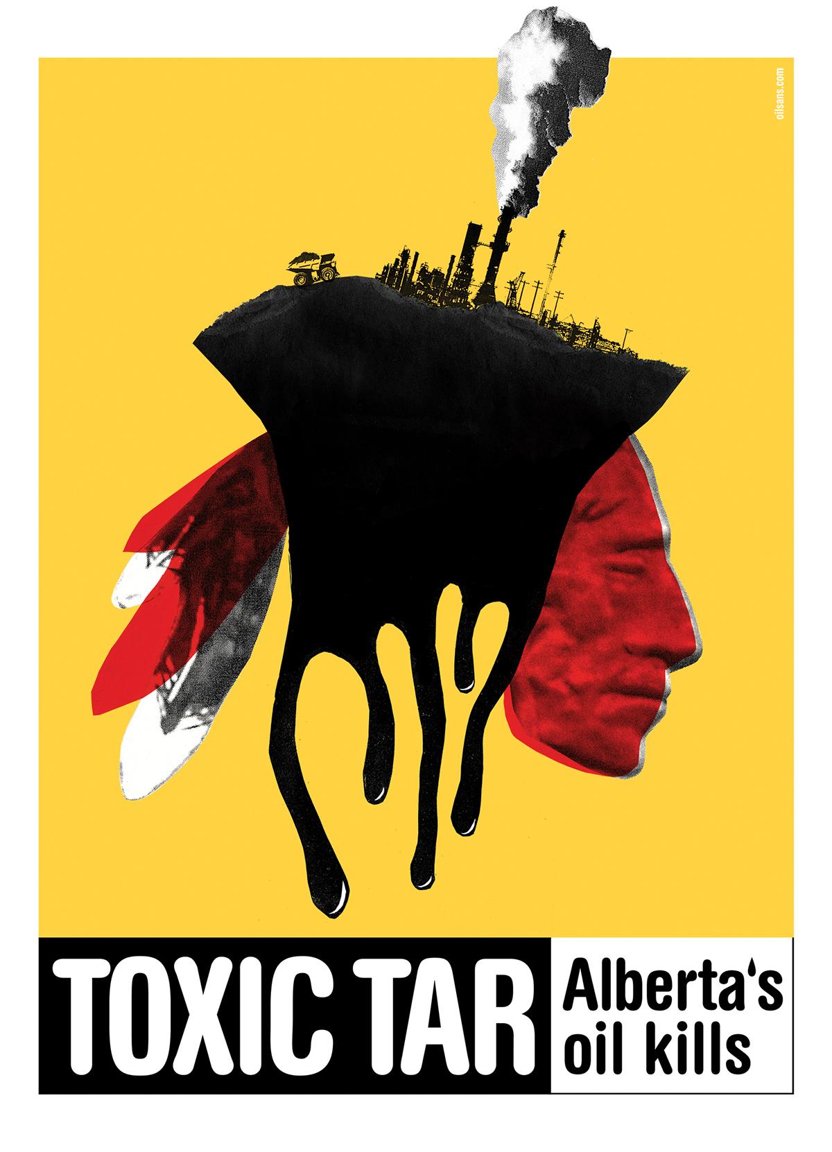 poster  print political  Canadian  Alberta poland Quebec silkscreen