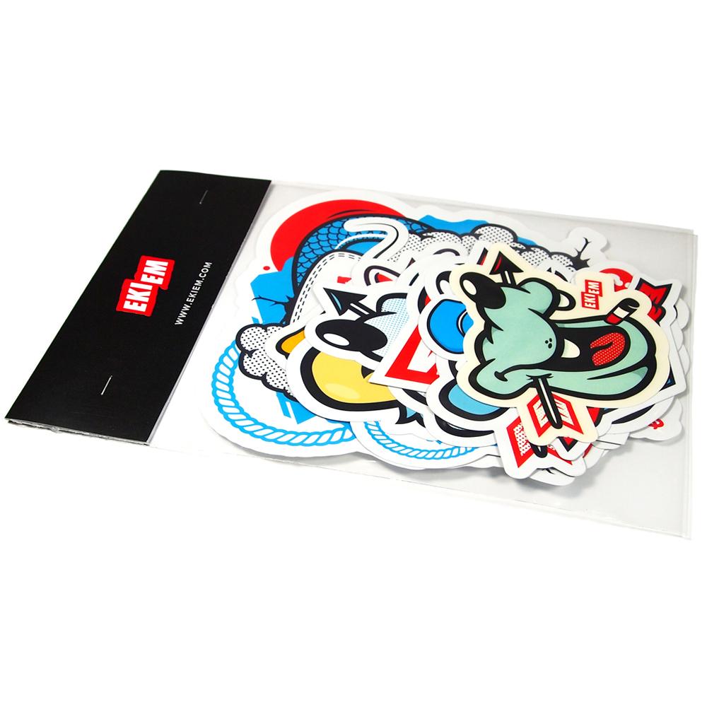 sticker diecutshape vinyl offsetprint outdoorquality characters characterdesign print