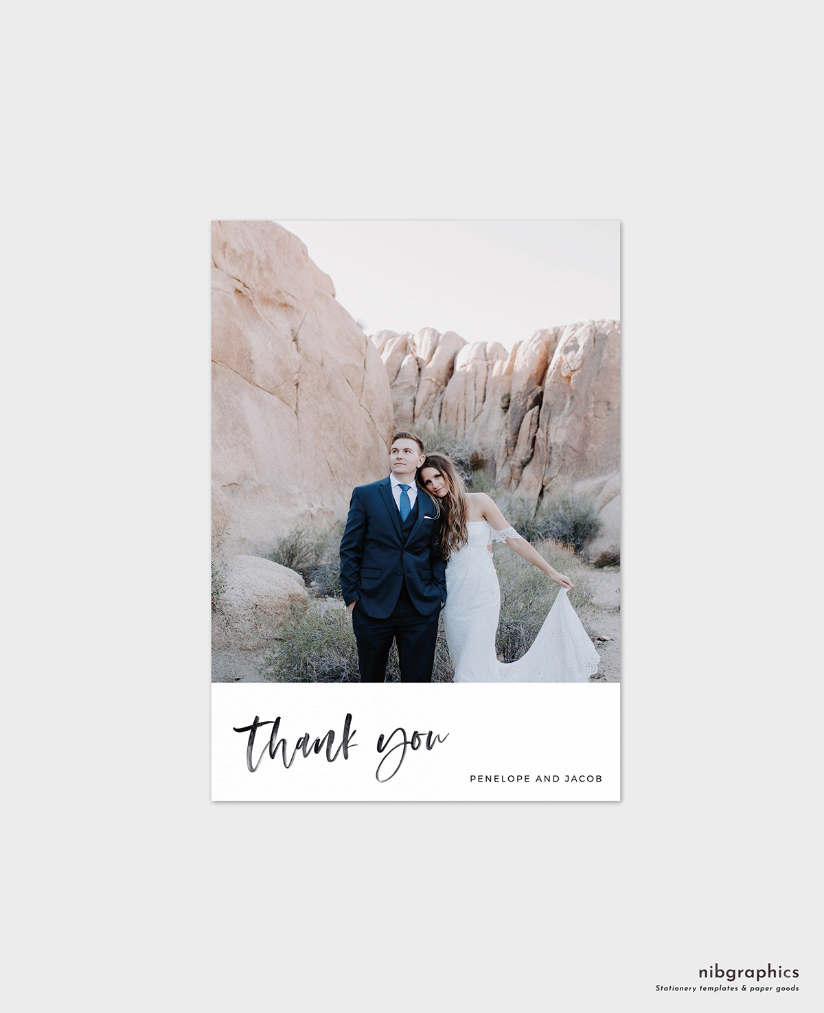 Photo Wedding Thank You Card Template On Behance