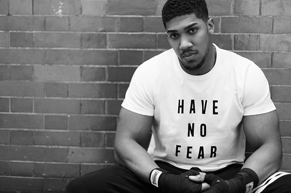 Fashion  design graphic design  Boxing Anthony Joshua Clothing Merch sports fcuk fear