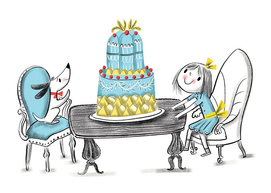 Image may contain: birthday cake and cartoon