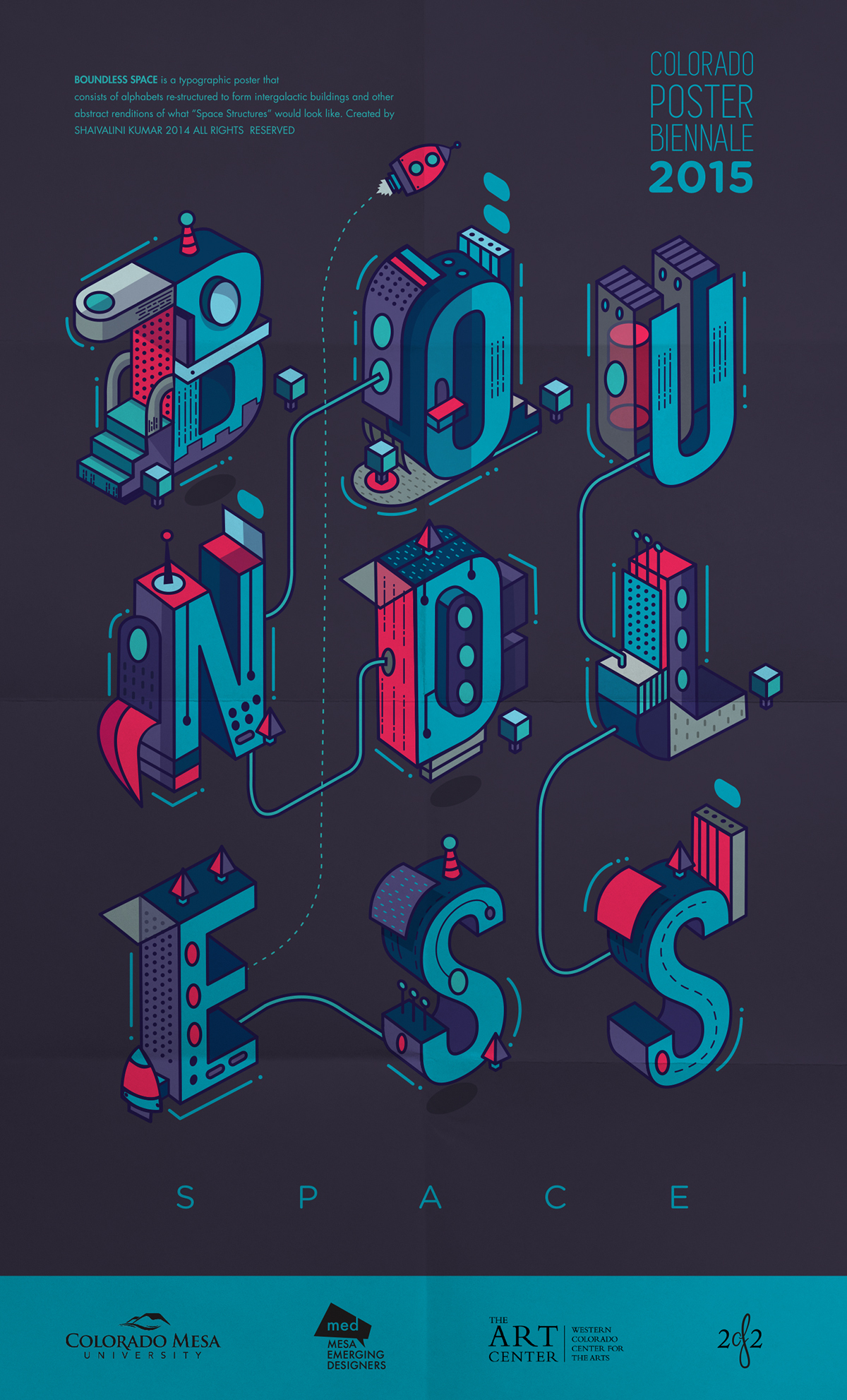 Boundless space on behance for Space poster design