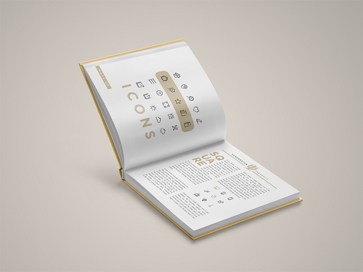 Square Book Mockup Set On Behance