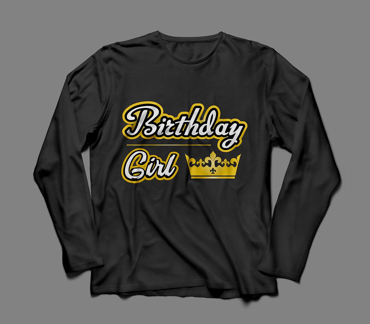 Birthday Girl T Shirt Design On Wacom Gallery