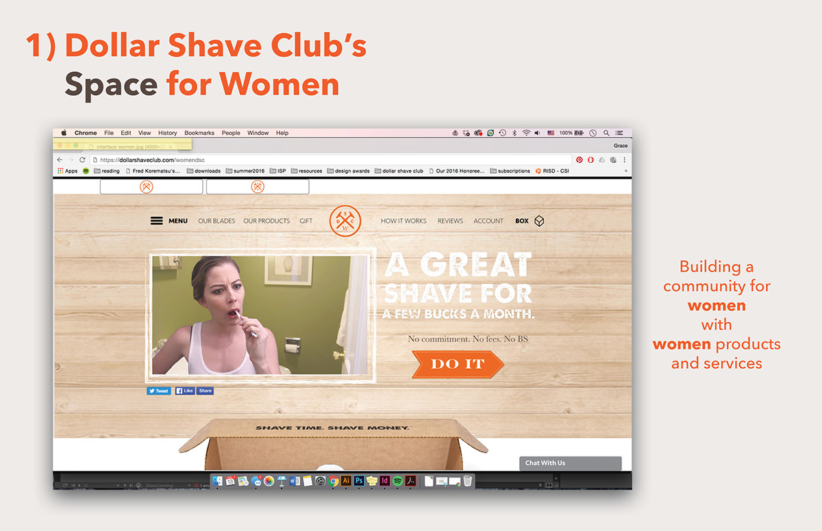 Women S Dollar Shave Club On Risd Portfolios