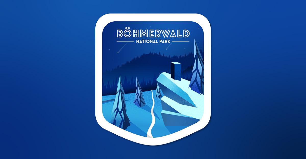 graphic design  ILLUSTRATION  logo logodesign mountains summer winter