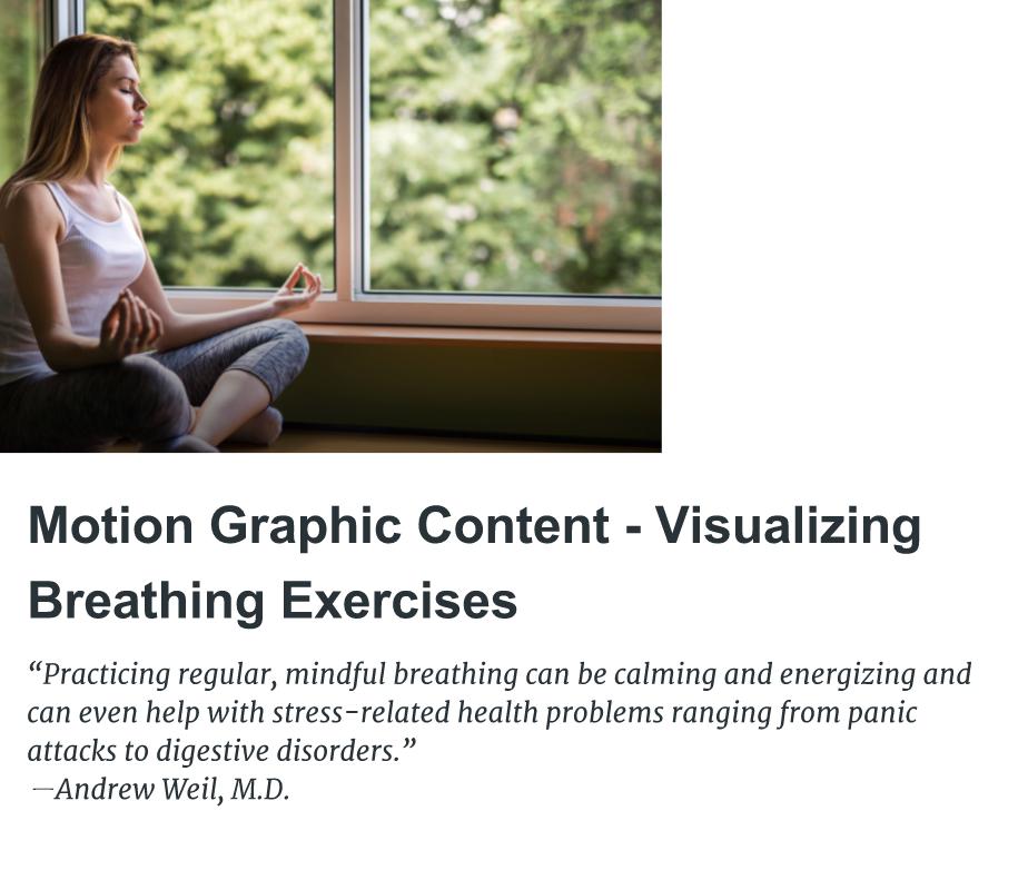 Visualizing Breathing Exercises 2017 on Behance