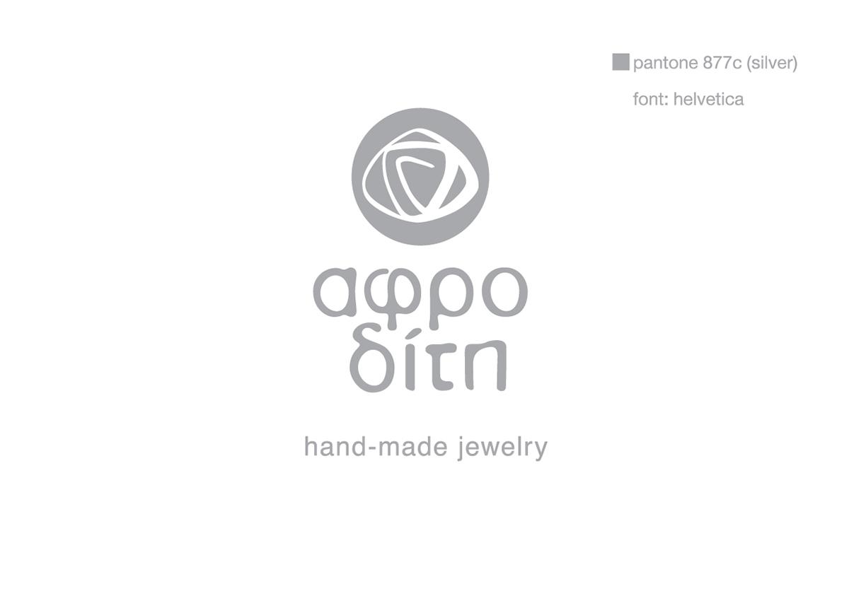 Aphrodite hand-made jewelry logo & business card on Behance