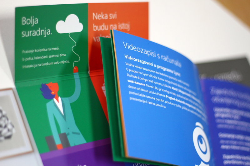 microsoft office 365 brochure on behance