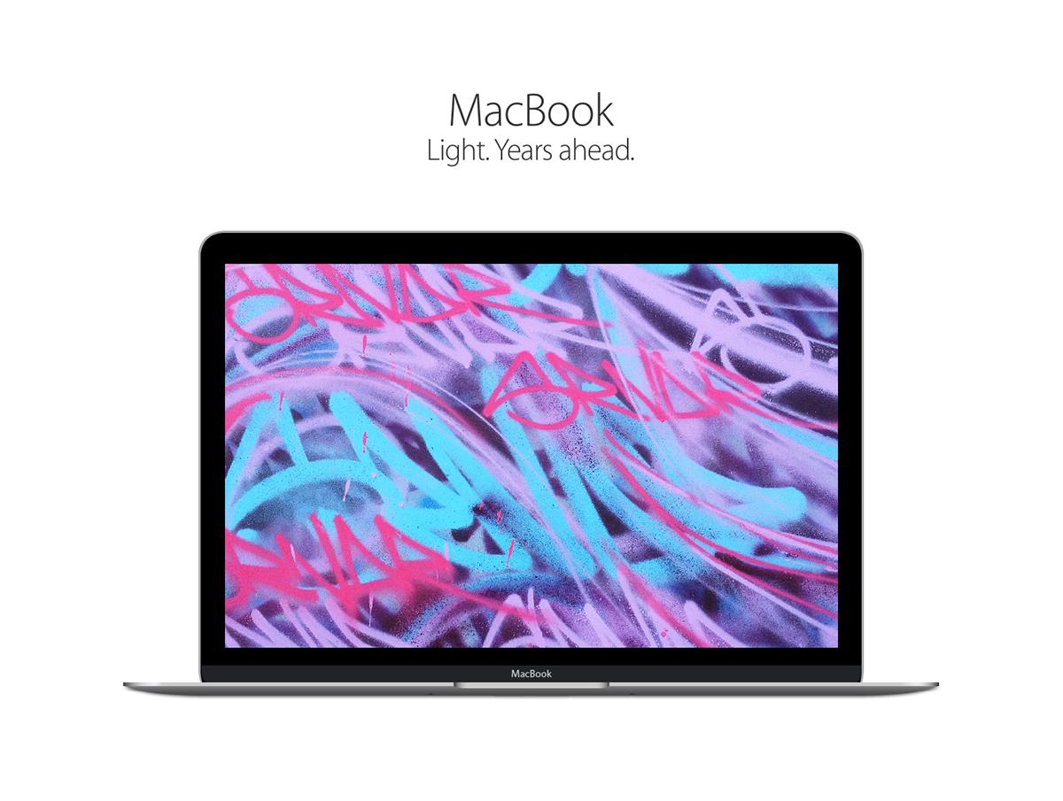 photorealistic macbook vector