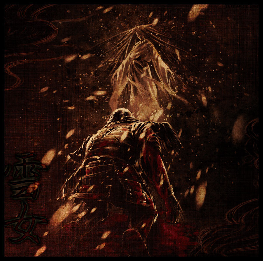 samurai yokai sumie japanese geisha kappa warrior anime vinyl band merch cd artwork dark hoodie ukiyoe death metal