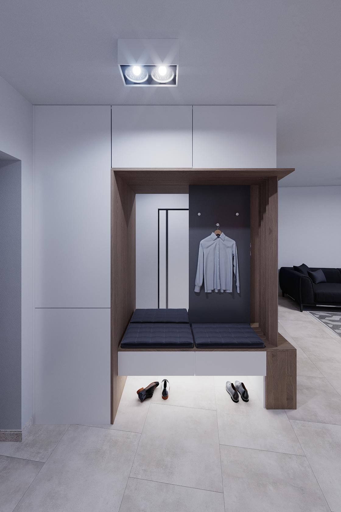 corona CoronaRender  house flat Interior city living revit wood