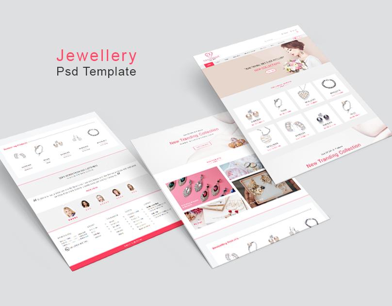 Website template PSD to HTML Web Template branding  Jewellery ui design photoshop mjsteadfast steadfast