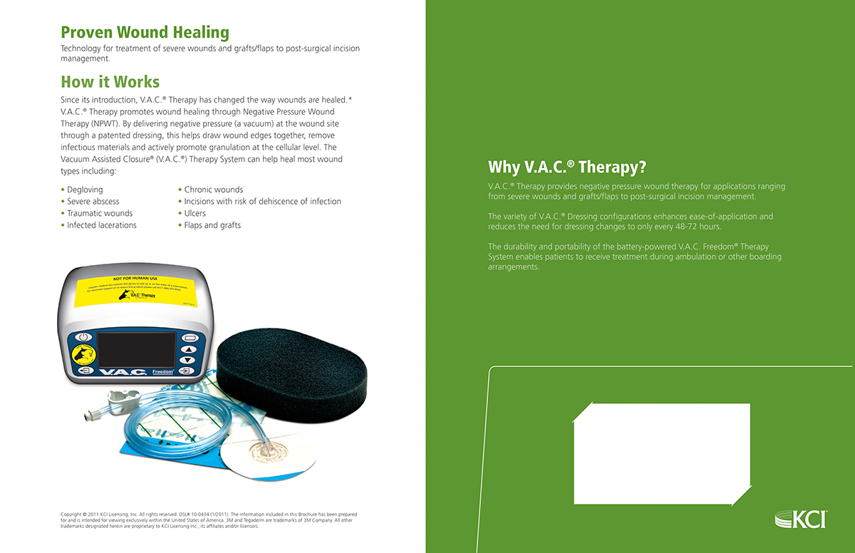 kci vac therapy on behance