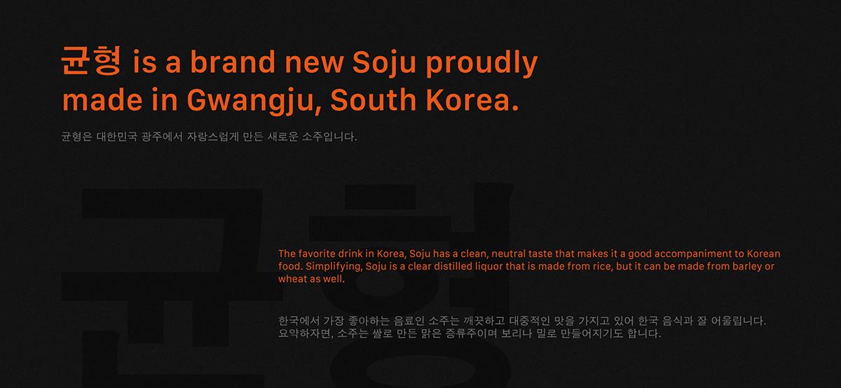 균형 Soju Packaging Design On Student Show