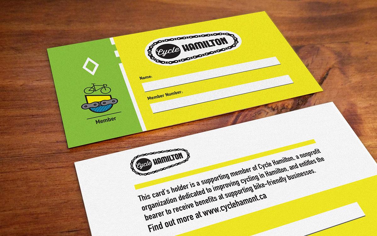 Cycle Hamilton Membership Cards on Behance