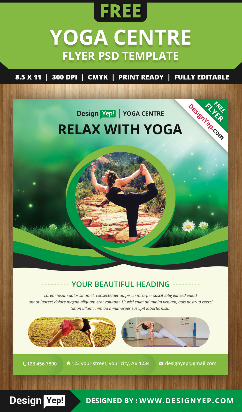 Free Yoga Flyer Psd Template For Download On Behance