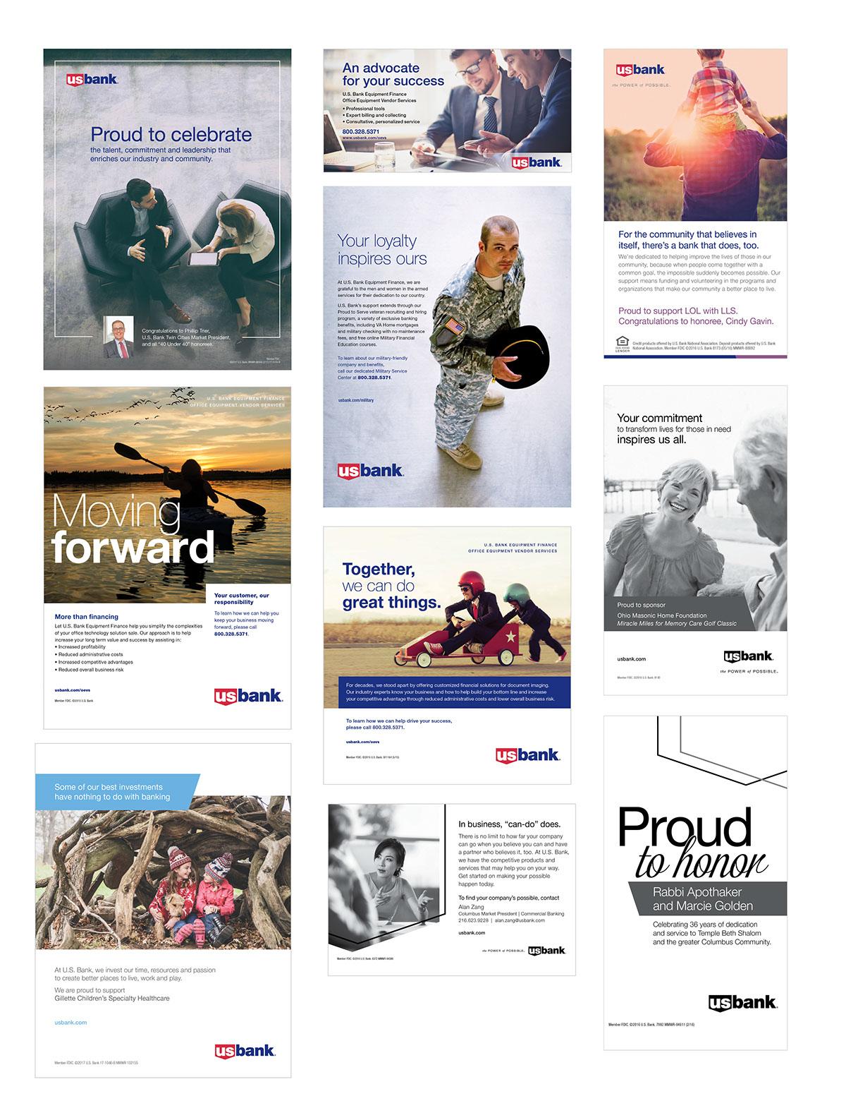 Apart Design Bank.Various Ads For U S Bank Design Art Direction On Behance