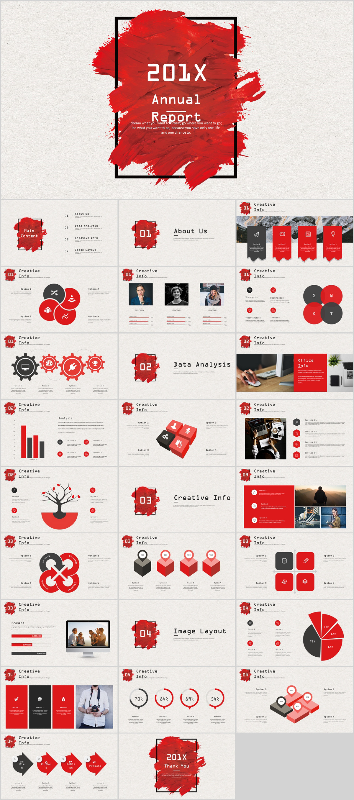 Red Company Annual Report Powerpoint Template On Behance